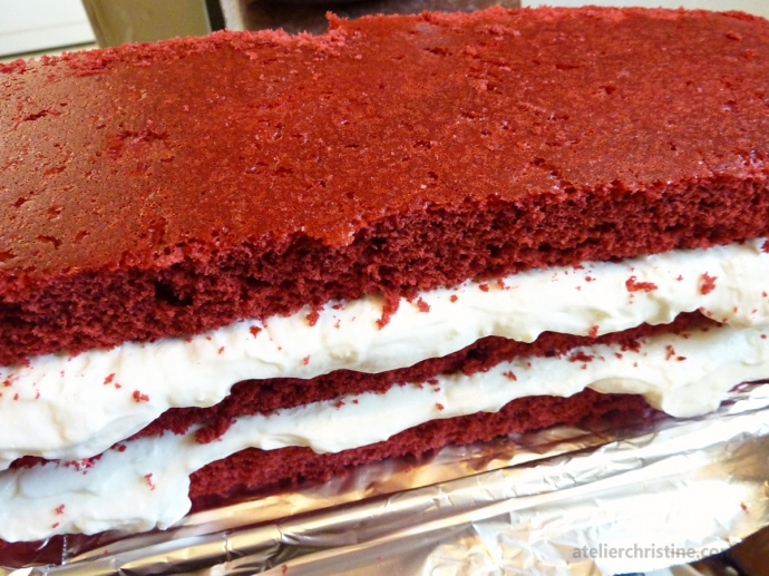Layered Red Velvet Cake with Creme Fraiche Frosting Recipe | Atelier ...