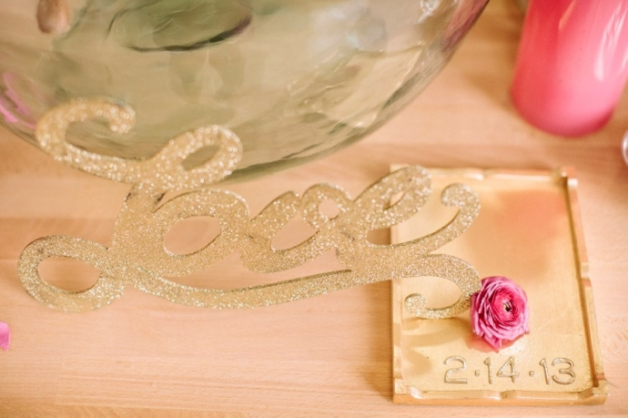 Girlfriend Get-Together Idea, a Sparkly Pink and Gold Soiree;  The Photography of Haley Sheffield.