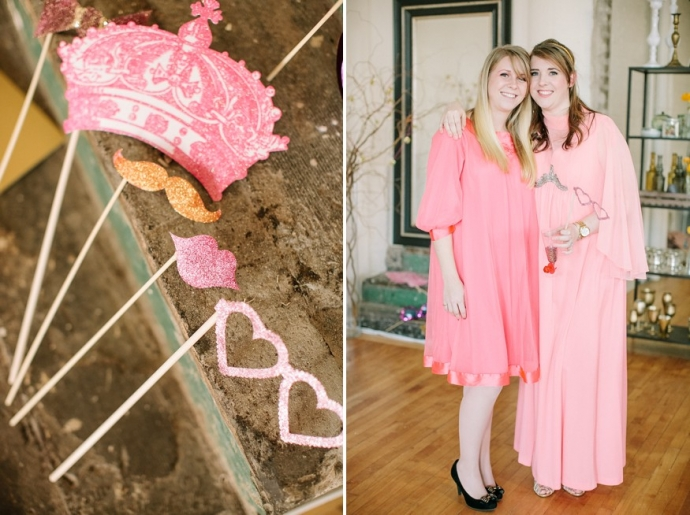 Girlfriend Get-Together Idea, a Sparkly Pink and Gold Soiree; © The Photography of Haley Sheffield.