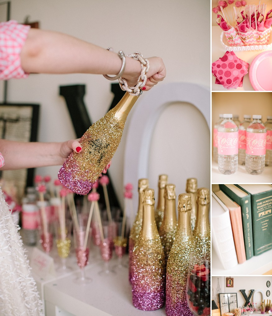 Girlfriend get together idea a sparkly pink and gold - Wedding bridal shower ...