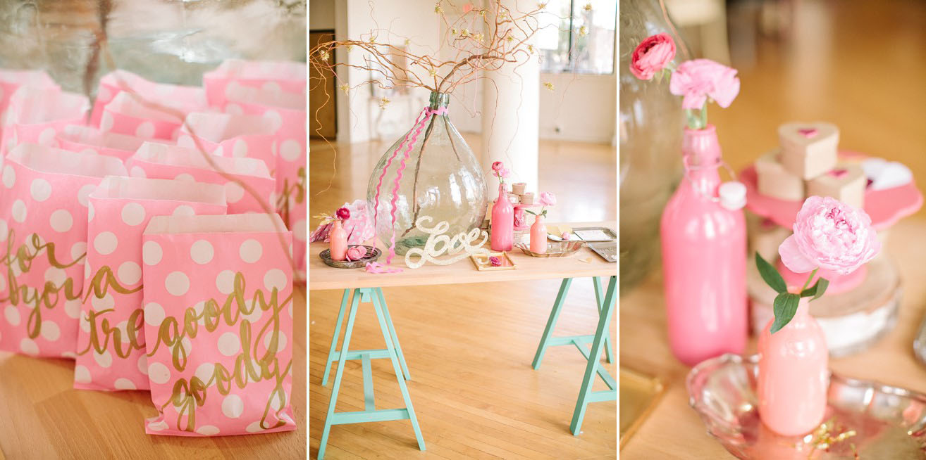 Girlfriend Get Together Idea A Sparkly Pink And Gold Soiree Atelier