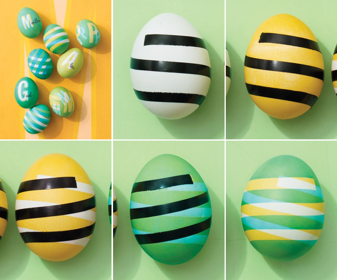 Create A Pattern On Easter Eggs By Martha Stewart