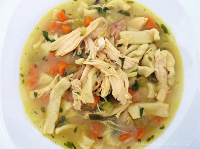 How to make a new kind of homemade chicken noodle soup recipe: the best comfort food for kids and a cure for colds, flus, and an endless winter. How to make a new kind of homemade chicken noodle soup recipe: the best comfort food for kids and a cure for colds, flus, and an endless winter. Soup A New Chicken Noodle Soup for an Endless Winter.