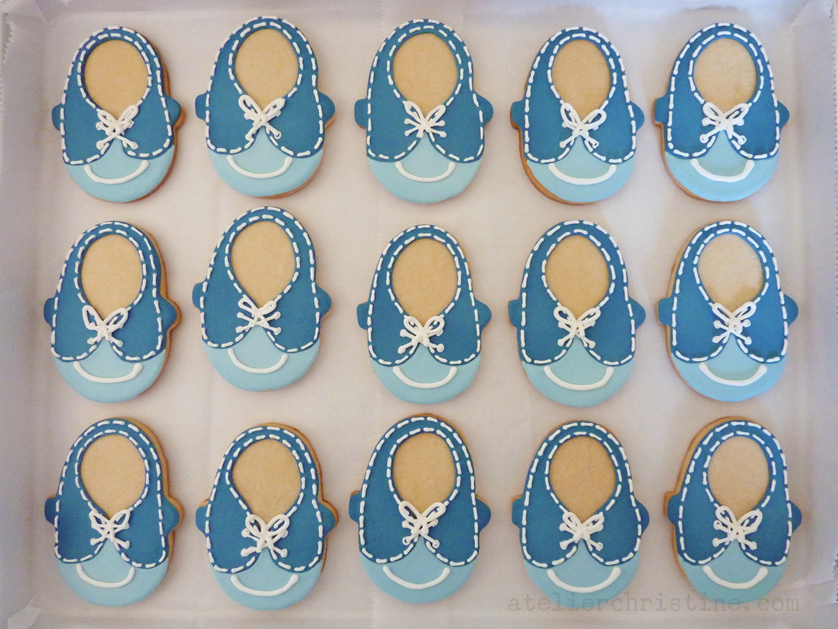 Le Shoppe Baby Shoe Cookies For A Boy Baby Shower Atelier Christine