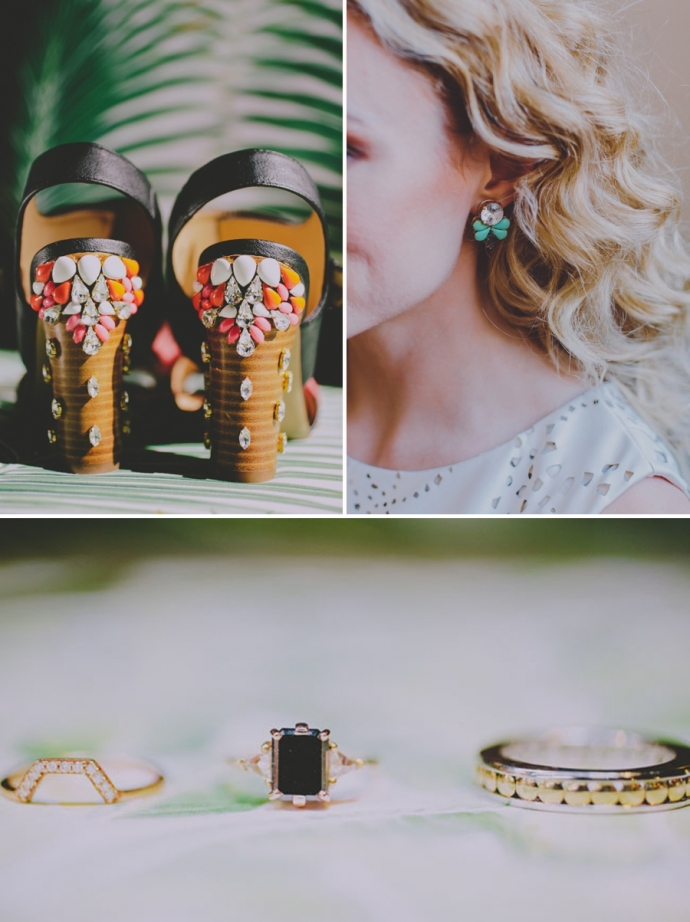 A Retro Tropical Wedding Photo Shoot At An Industrial