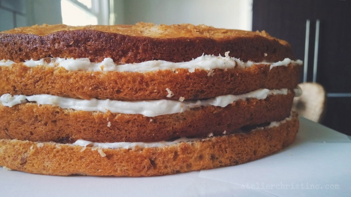 A Vintage Inspired Southern Hummingbird Cake Recipe with Sour Cream Whipped Frosting.