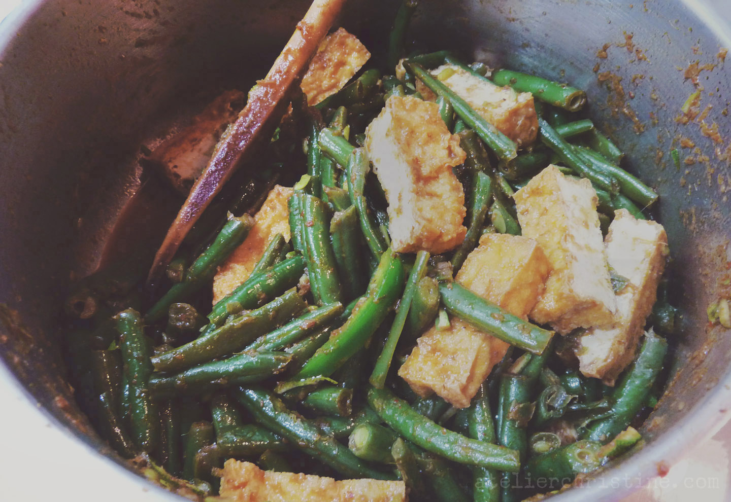 Pad prik king stir fried green beans tofu with thai chili paste pad prik king stir fried green beans tofu with thai chili paste forumfinder Choice Image