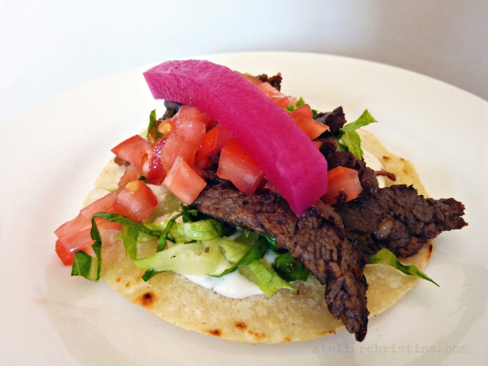 Beef Shawarma at Home | Shaved Tri-Tip Roast Tacos with Tahini Dressing