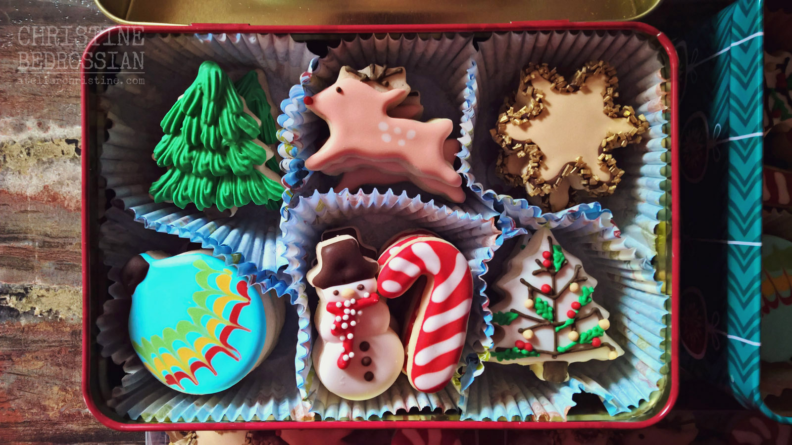 Christmas Cookies Box.Le Shoppe Winter Holiday Baking Christmas Cookie Gift Box