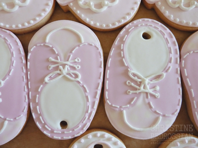 le Shoppe | Baby Shoe + Sneaker Cookies to match Baby Shower Theme