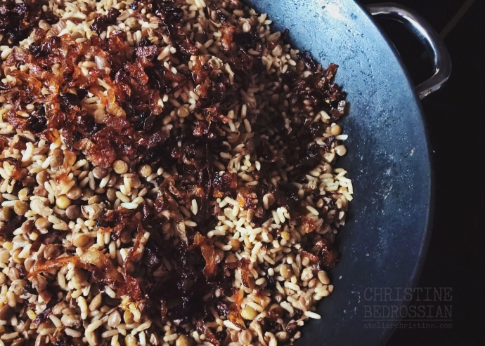 MUJADDARA | Rice and Lentils with Caramelized Onions, a Vegan and Gluten-Free Recipe