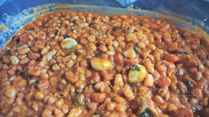 Plaki | White Beans Braised in a Tomato Based Sauce