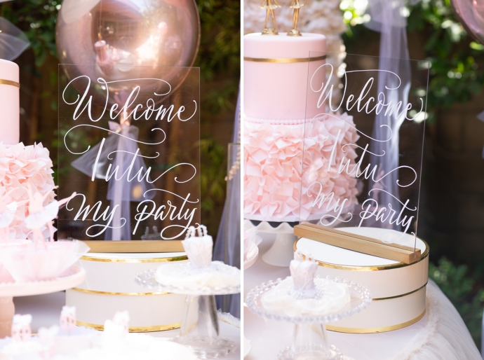 """ Welcome TuTu My Party"" a ballet themed birthday gathering featuring little ballerinas."